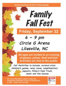 Cover photo for Anson Ag Expo & Fair's First Annual Family Fall Fest