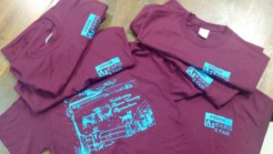 Pile of Anson County Agriculture t-shirts