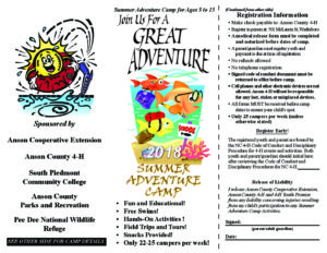 Cover photo for Anson County 4-H 2018 Summer Camps