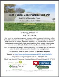 High Tunnel Workshop Flyer
