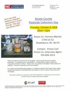Cover photo for Free Pesticide Collection Day