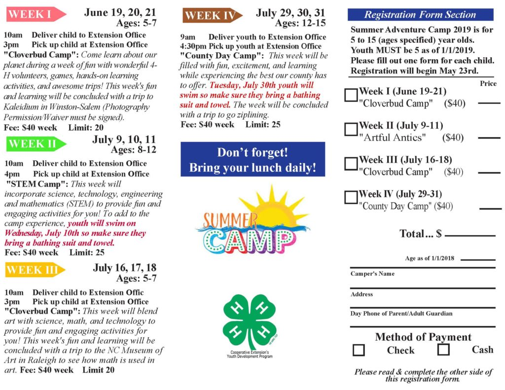 Summer Camp brochure page 2 image