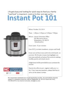 Instant Pot 101 flyer image