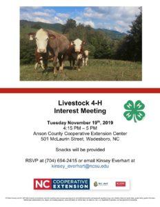 4-H Livestock Meeting
