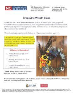 Grapevine Wreath Class