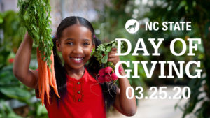 Cover photo for NC State Day of Giving March 25, 2020