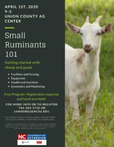 SMall Rumintants 101