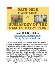 Family Dairy Cow Webinar