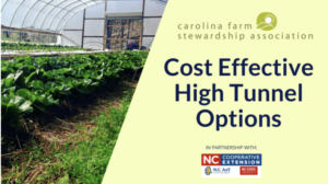 Cover photo for Cost Effective High Tunnel Options Webinar July 1