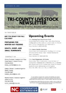 Livestock newsletter page 1