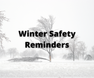 Cover photo for Winter Safety Recommendations