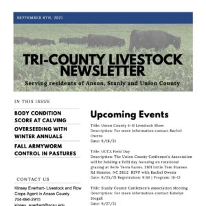 Cover photo for Tri-County Livestock Newsletter